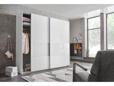 Wimex Schrank mit Schwebetüren »Bramfeld« mit Glaselementen und zusätzlichen Einlegeböden, weiß, 225 cm x 236 cm x 64 cm