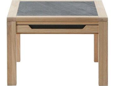 DECKER Sofatisch »AMENO«, mit eingelassener Schieferplatte, in verschiedenen Größen, braun, 65 cm x 45 cm x 65 cm
