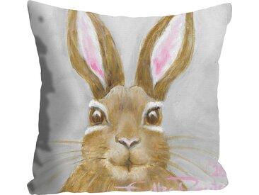Kissenhülle »Little Bunny in Grey«, queence (1 Stück), grau, 50 cm x 50 cm