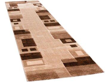 Läufer »Florenz 8529«, Paco Home, rechteckig, Höhe 16 mm, Teppich-Läufer, gewebt, Designer Teppich mit Konturenschnitt, braun