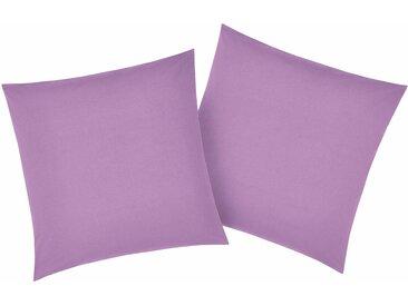 Kissenbezüge »Luisa«, my home (2 Stück), mit leichtem Glanzeffekt, lila, 40 cm x 40 cm