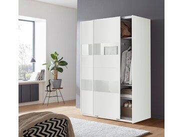 Wimex Schwebetürenschrank »Altona« mit Glaselementen und zusätzlichen Einlegeböden, weiß, 135 cm x 198 cm x 64 cm