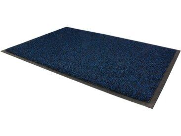 Fußmatte »GREEN & CLEAN«, Primaflor-Ideen in Textil, rechteckig, Höhe 8 mm, Fussabstreifer, Fussabtreter, Schmutzfangläufer, Schmutzfangmatte, Schmutzfangteppich, Schmutzmatte, Türmatte, Türvorleger, In- und Outdoor geeignet, waschbar, blau, 60 cm x 80 cm x 8 mm