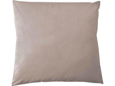 Kissenbezüge »Pure Uni«, damai (2 Stück), in großer Farbauswahl, braun, 80 cm x 80 cm