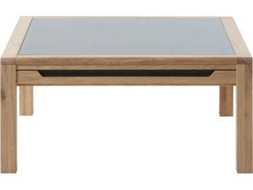 DECKER Sofatisch »AMENO«, mit eingelassener Schieferplatte, in verschiedenen Größen, braun, 95 cm x 45 cm x 95 cm