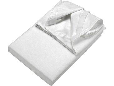 Matratzenauflage »Frottee Matratzenschutz«, SETEX, Materialmix, weiß, 90 cm x 200 cm