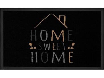 Fußmatte »Sweet Home 2«, HANSE Home, rechteckig, Höhe 5 mm, Fussabstreifer, Fussabtreter, Schmutzfangläufer, Schmutzfangmatte, Schmutzfangteppich, Schmutzmatte, Türmatte, Türvorleger, mit Spruch, In- und Outdoor geeignet, waschbar, schwarz