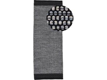 Läufer »Kelim Mia«, carpetfine, rechteckig, Höhe 6 mm, reine Baumwolle, grau, 60 cm x 180 cm x 6 mm
