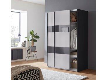 Wimex Schrank mit Schwebetüren »Altona« mit Glaselementen und zusätzlichen Einlegeböden, grau, 135 cm x 198 cm x 64 cm