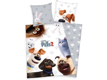 Kinderbettwäsche »Pets 2«, mit Tiermotiven, Neckermann, weiß
