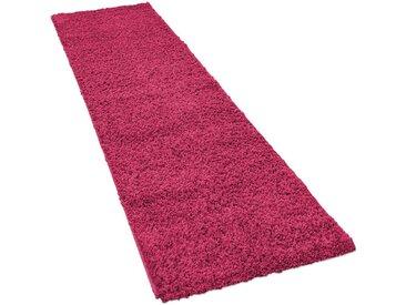Läufer »Sky 250«, Paco Home, rechteckig, Höhe 35 mm, Teppich-Läufer, gewebt, einfarbiger Uni Hochflor Shaggy, rosa, 70 cm x 250 cm x 35 mm