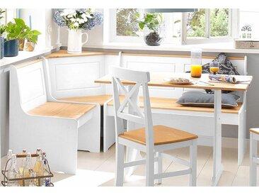 Home affaire Essgruppe »Sascha«, mit Tisch und Truhen-Eckbank, weiß