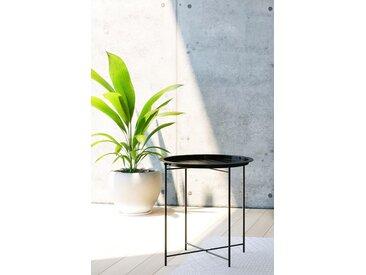 Homexperts Beistelltisch »Smart«, Tablett-Tisch aus Metall, 47 cm Durchmesser, schwarz
