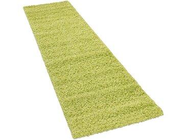 Läufer »Sky 250«, Paco Home, rechteckig, Höhe 35 mm, Teppich-Läufer, gewebt, einfarbiger Uni Hochflor Shaggy, grün, 70 cm x 250 cm x 35 mm