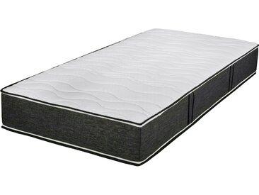 Boxspringmatratze »TFK 1000 Variant«, Breckle, 25 cm hoch, Raumgewicht: 28, 1000 Federn, mit farbigem Border, grau, 80 cm x 190 cm x 25 cm