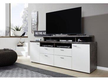 trendteam TV-Board »Mood« (2 St), TV-Bühne mit offenen Fächern, weiß
