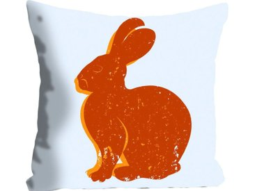 Kissenhülle »Lindt«, queence (1 Stück), mit einem orangenen Hasen