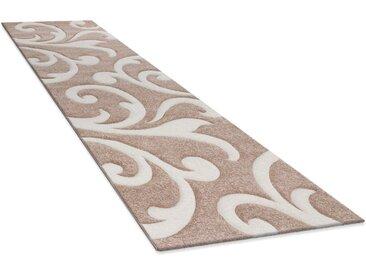 Läufer »Diamond 761«, Paco Home, rechteckig, Höhe 18 mm, Teppich-Läufer, Kurzflor, gewebt, 3D-Design, mit Ornamenten, beige