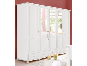 Home affaire Kleiderschrank »Tessin«, weiß, 245 cm x 191 cm x 59 cm