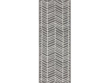 Läufer »Luke«, andas, rechteckig, Höhe 8 mm, Kurzflor, grau