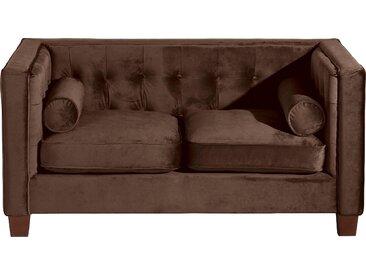 Max Winzer® 2-Sitzer »Jobbi«, mit Steppung im Rücken, inklusive 2 Kissenrollen, Breite 154 cm, braun