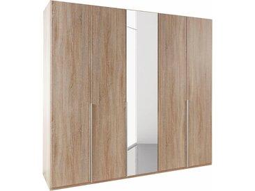 Wimex Kleiderschrank »New York« mit Schubkasteneinsatz und Einlegeböden, beige, 225 cm x 236 cm x 58 cm