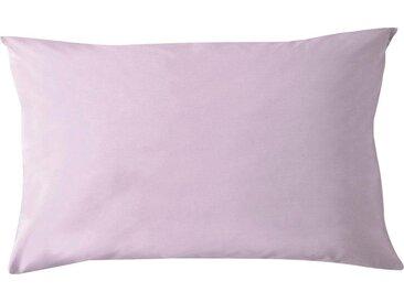 Kissenbezüge »Pure Uni«, damai (2 Stück), in großer Farbauswahl, lila, 80 cm x 40 cm