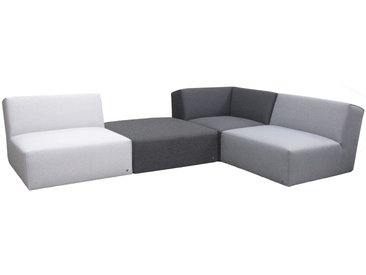 TOM TAILOR Ecksofa »ELEMENTS«, Set, in Grey shadows, bestehend aus 4 Sofaelementen, grau