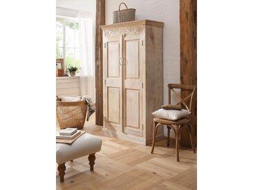 Home affaire Garderobenschrank »Devdan« mit dekorativen Fräsungen oben, Breite 100 cm, braun