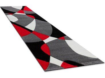Läufer »Diamond 664«, Paco Home, rechteckig, Höhe 18 mm, Teppich-Läufer, Kurzflor, gewebt, 3D-Design, mit geometrischem Muster, rot
