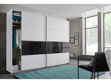 Wimex Schwebetürenschränke »Bramfeld« mit Glaselementen und zusätzlichen Einlegeböden, weiß, 270 cm x 236 cm x 64 cm