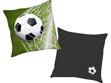 Herding Young Collection Dekokissen »Fußball«, mit tollem Fußball Motiv, grün