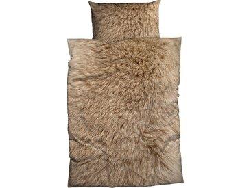 Bettgarnitur »Animal Fur«, CASATEX, mit Felloptik, braun