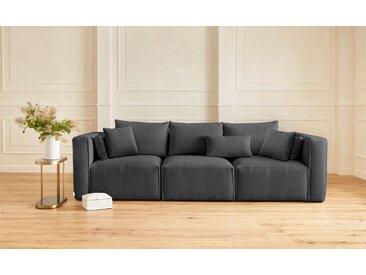 Guido Maria Kretschmer Home&Living 3-Sitzer »Comfine«, zusammengesetzt aus Modulen, in 3 Bezugsqualitäten und vielen Farben möglich, grau, Fellimitat