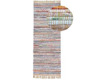 Läufer »Kelim Chindi«, carpetfine, rechteckig, Höhe 6 mm, Wolle und Fransen, braun, 80 cm x 300 cm x 6 mm