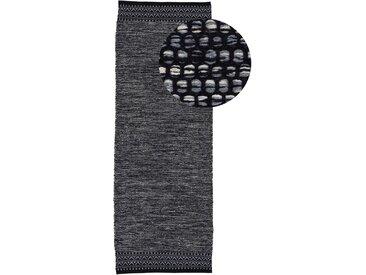 Läufer »Kelim Mia«, carpetfine, rechteckig, Höhe 6 mm, reine Baumwolle, schwarz, 75 cm x 240 cm x 6 mm