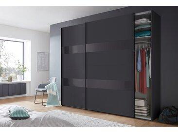 Wimex Schrank mit Schwebetüren »Altona« mit Glaselementen und zusätzlichen Einlegeböden, grau, 270 cm x 236 cm x 65 cm