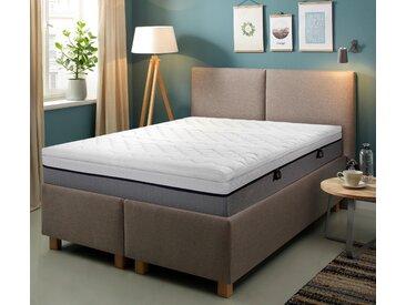 Topper »VS Green«, Hn8 Schlafsysteme, 6 cm hoch, Raumgewicht: 50, Viscoschaum, schmiegt sich wunderbar an deinen Körper an, weiß, 140 cm x 200 cm x 6 cm