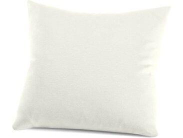 Kissenbezug »Nelke«, Schlafgut (1 Stück), Interlock-Jersey, soft und weich, weiß, 40 cm x 40 cm