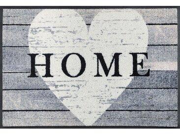 Fußmatte »Heart at Home«, wash+dry by Kleen-Tex, rechteckig, Höhe 7 mm, Fussabstreifer, Fussabtreter, Schmutzfangläufer, Schmutzfangmatte, Schmutzfangteppich, Schmutzmatte, Türmatte, Türvorleger, grau