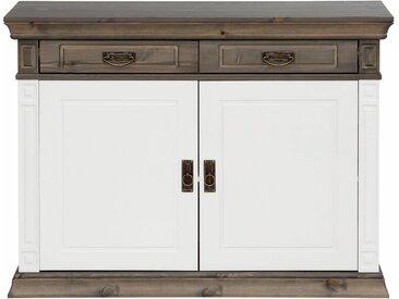 Home affaire Kommode »Vinales«, Breite 112 cm aus massiver Kiefer, weiß