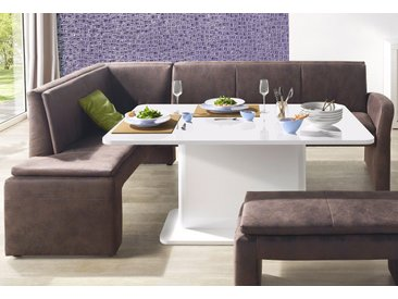 exxpo - sofa fashion Eckbank, in diversen Ausführungen, braun, Luxus-Microfaser