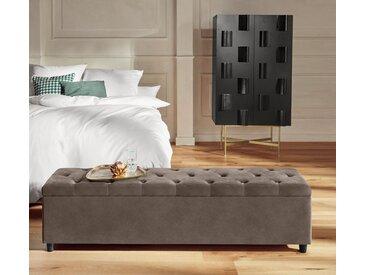 Guido Maria Kretschmer Home&Living Bettbank »Relaxy«, gesteppt, mit Staufach, beige, 140 cm x 41,5 cm x 40 cm