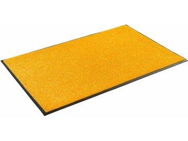 Fußmatte »Trend Uni«, wash+dry by Kleen-Tex, rechteckig, Höhe 7 mm, Fussabstreifer, Fussabtreter, Schmutzfangläufer, Schmutzfangmatte, Schmutzfangteppich, Schmutzmatte, Türmatte, Türvorleger, In- und Outdoor geeignet, waschbar, gold, 40 cm x 60 cm x 7 mm
