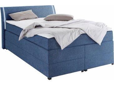Breckle Boxspringbetten, mit Bettkasten und LED-Beleuchtung, blau