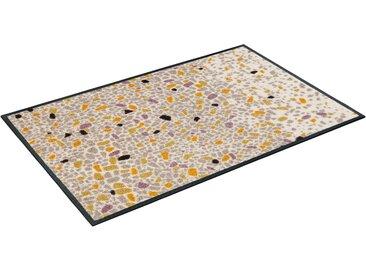 Fußmatte »Sasso«, wash+dry by Kleen-Tex, rechteckig, Höhe 7 mm, Fussabstreifer, Fussabtreter, Schmutzfangläufer, Schmutzfangmatte, Schmutzfangteppich, Schmutzmatte, T��rmatte, Türvorleger, In- und Outdoor geeignet, waschbar, beige