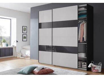 Wimex Schrank mit Schwebetüren »Altona« mit Glaselementen und zusätzlichen Einlegeböden, grau, 225 cm x 236 cm x 65 cm
