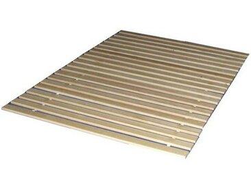 Rollrost, Breckle, 20 Leisten, Kopfteil nicht verstellbar, 20 Leisten, braun, 140 cm x 200 cm x 1,8 cm