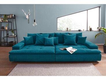 Nova Via Big-Sofa, wahlweise mit Kaltschaum (140kg Belastung/Sitz) und AquaClean-Stoff für leichte Reinigung mit Wasser, grün, Aqua Clean Pascha