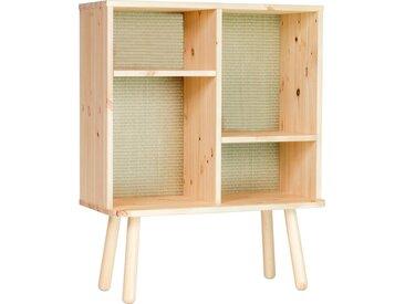 Karup Design Regal »Kyabi«, Vierbeiniger Schrank mit zwei verstellbaren Regalen und einem Tatami-Look auf der Rückseite, beige